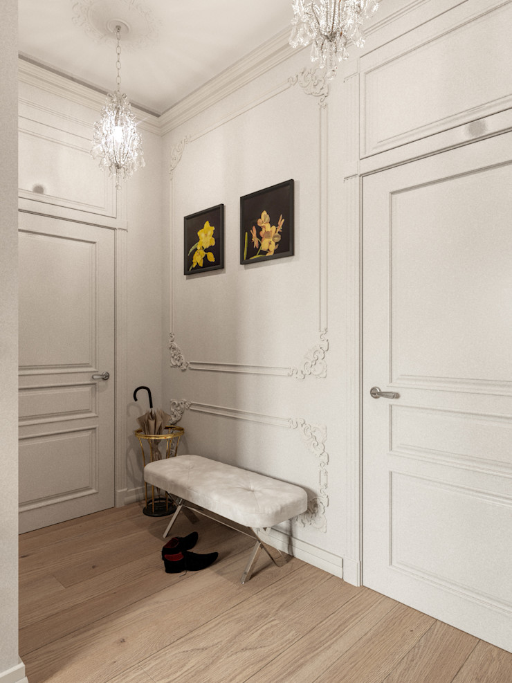 Дизайн-студия 'Вердиз' Classic style corridor, hallway and stairs