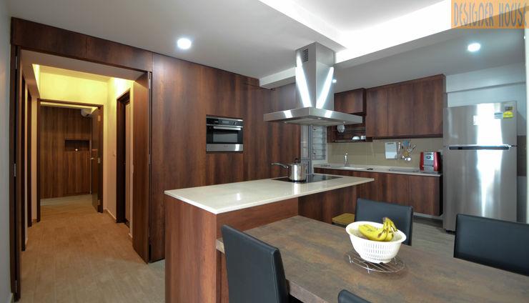 Designer House KitchenCabinets & shelves Brown
