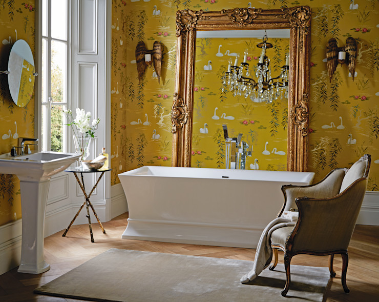 Penrose freestanding acrylic bath Heritage Bathrooms Classic style bathroom