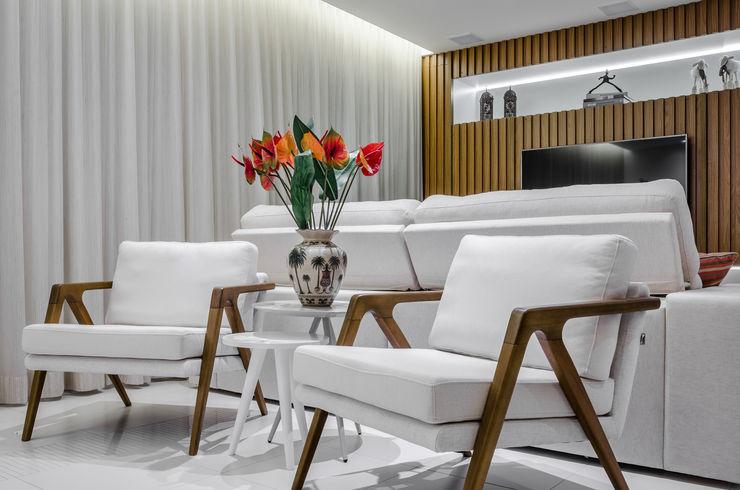 Atmosphere LS ARQUITETURA Salas de estar modernas