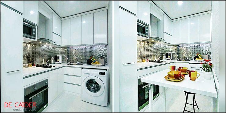 Kitchen SEt Minimalis + MEja lipat De' Catoer design & build KitchenCabinets & shelves Kayu Lapis White