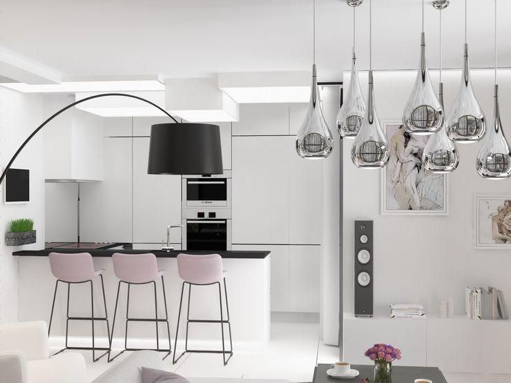 Кухня Anastasia Yakovleva design studio 廚房 White