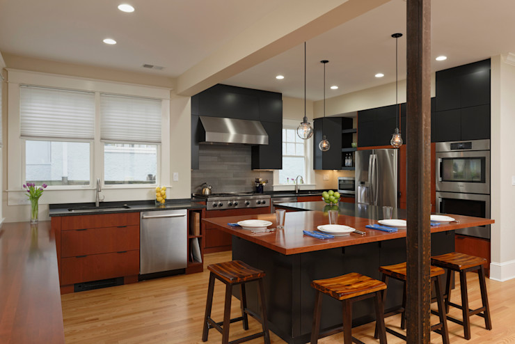 Cleveland Park DC Kosher Kitchen Renovation BOWA - Design Build Experts Modern kitchen