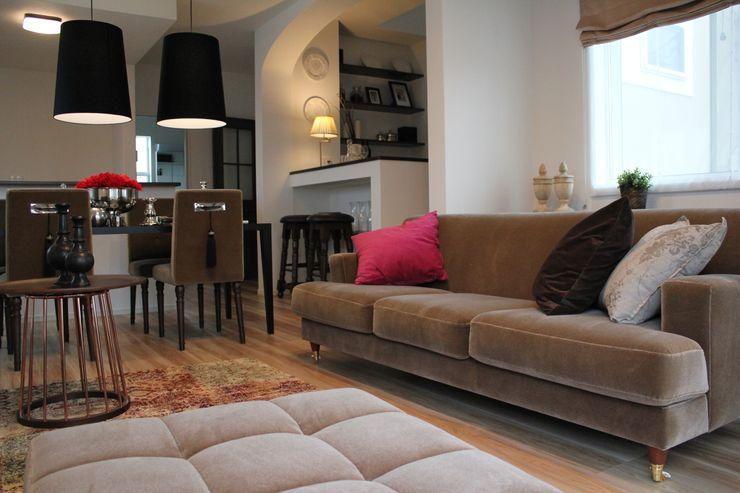 コト Living roomSofas & armchairs Dệt may Brown