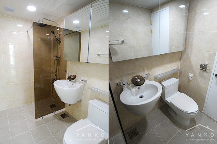 얀코인테리어 Modern style bathrooms