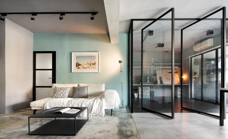 磨設計 Salas de estilo minimalista