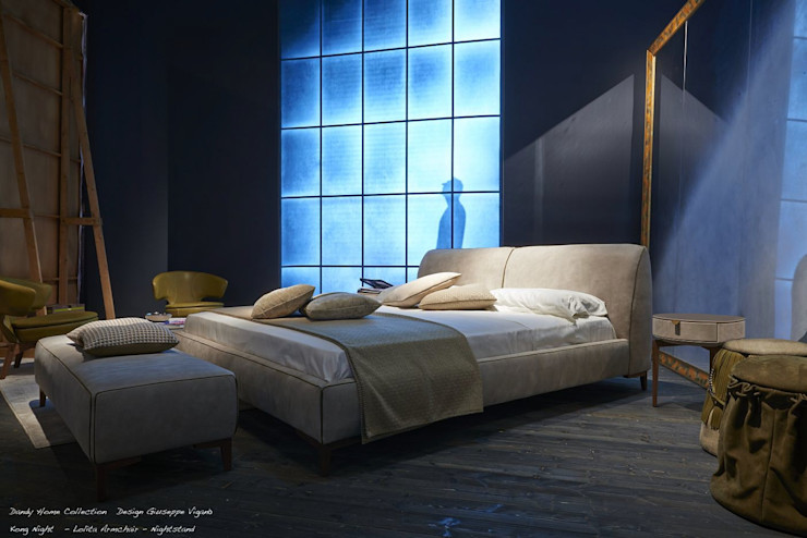 homify BedroomBeds & headboards Leather