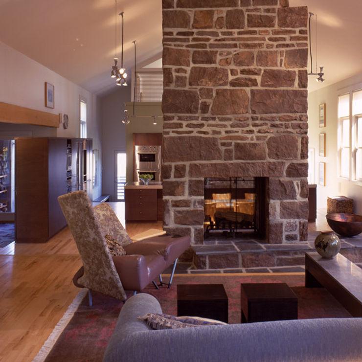 Hayden Lane Residence, Bucks County, PA BILLINKOFF ARCHITECTURE PLLC Living room