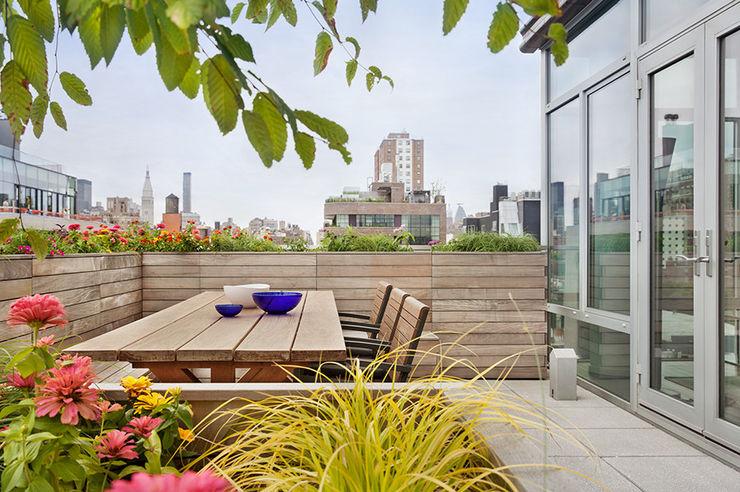 BILLINKOFF ARCHITECTURE PLLC minimalist style balcony, porch & terrace