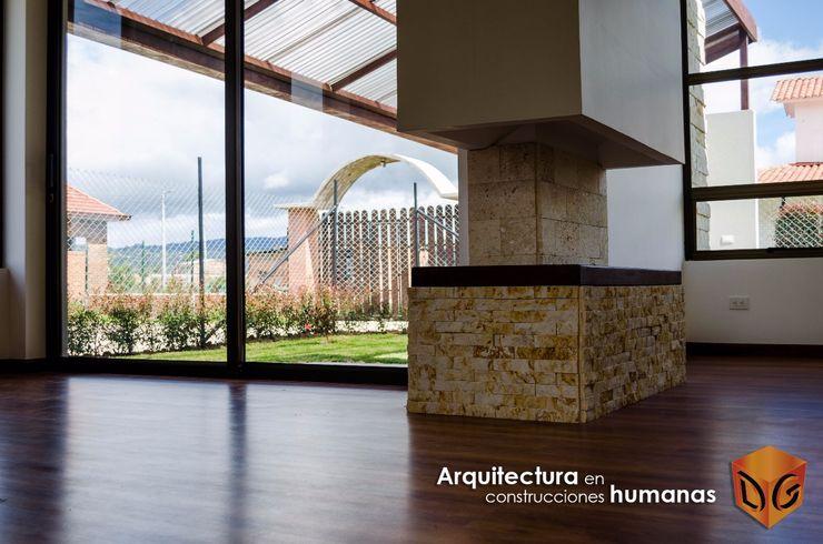 DG ARQUITECTURA COLOMBIA Moderner Flur, Diele & Treppenhaus Holz