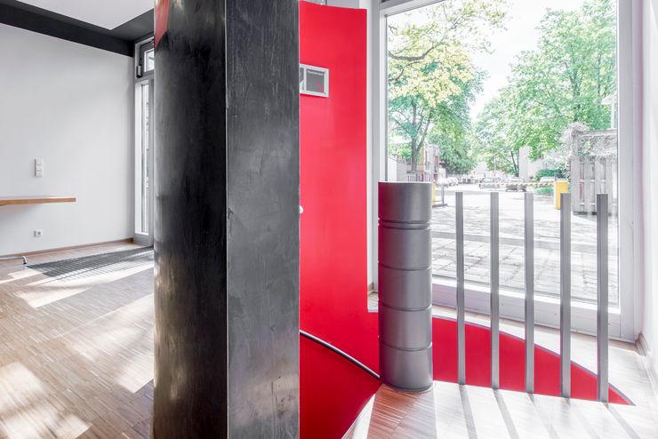 Detail Kellerabgang Ohlde Interior Design Moderne Bürogebäude Stein Weiß