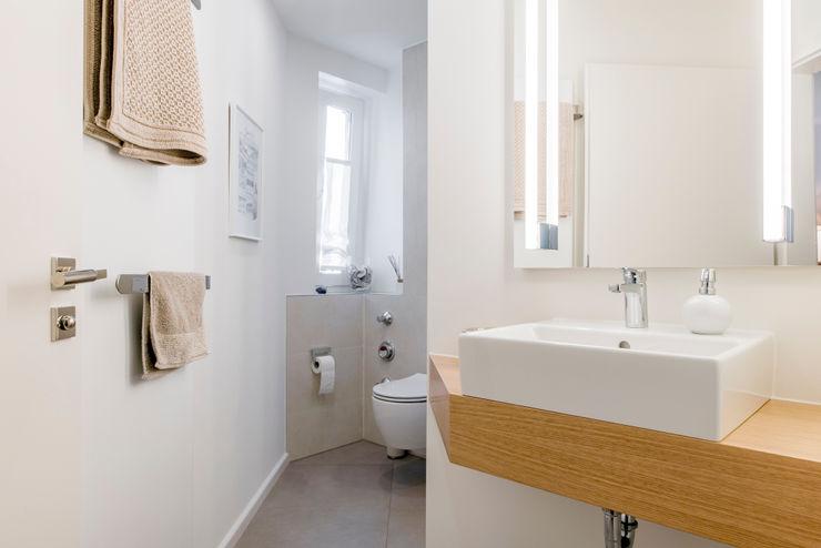 Gäste WC nach der Sanierung Ohlde Interior Design Beige