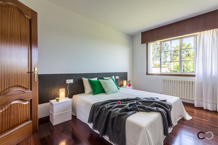 CCVO Design and Staging Modern style bedroom White
