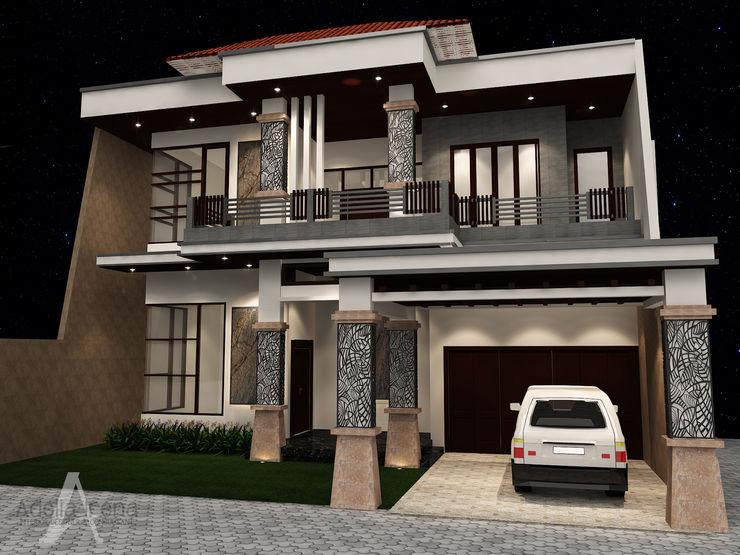 Facade PEKA INTERIOR Rumah tinggal Beige