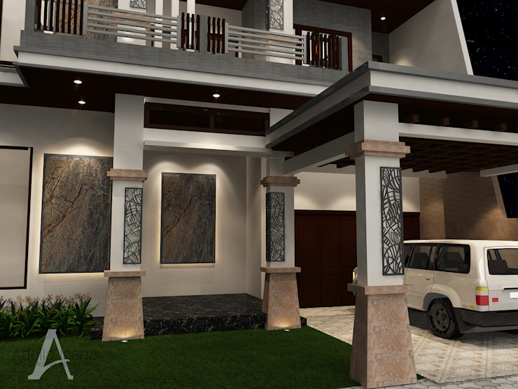 Facade PEKA INTERIOR Rumah tinggal Batu Beige