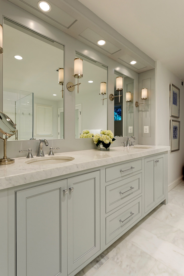 Whole House Design Build Renovation in Bethesda, MD BOWA - Design Build Experts Classic style bathroom