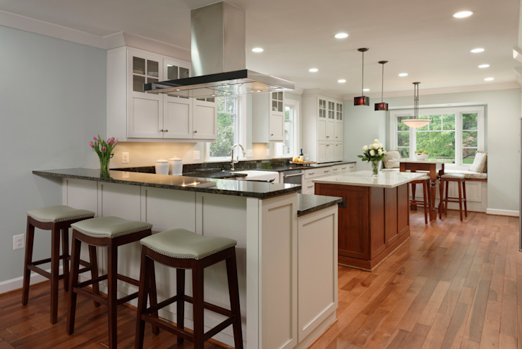 First Floor and Outdoor Living Transformation in Vienna, VA BOWA - Design Build Experts Classic style kitchen