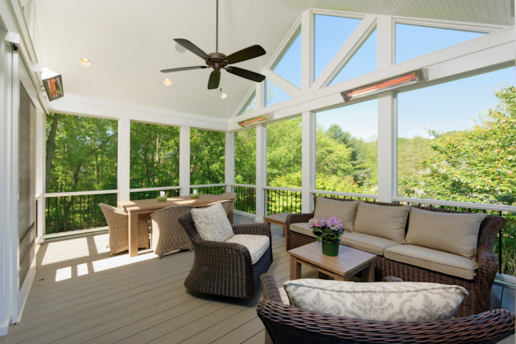 First Floor and Outdoor Living Transformation in Vienna, VA BOWA - Design Build Experts Classic style balcony, veranda & terrace
