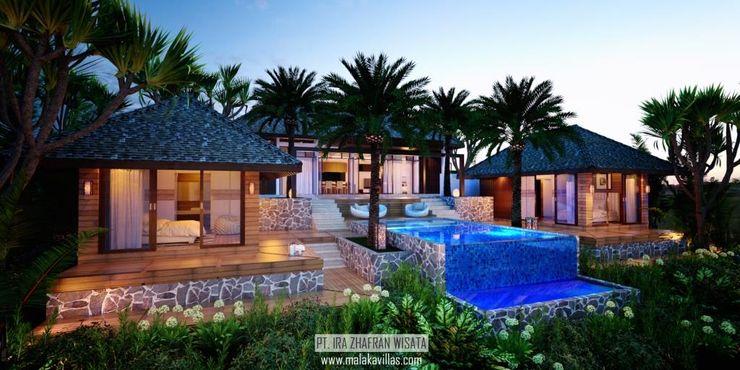 2 Bedrooms Malaka Villas Skye Architect Hotel Tropis Kayu Brown