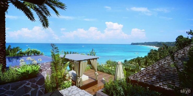 Malaka Beach Views Skye Architect Hotel Tropis Kayu Brown