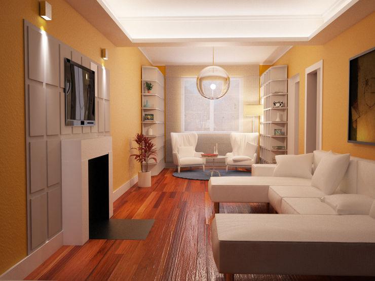 Arch. Francesco Antoniazza - Il bello della casa ..................... di una volta Classic style living room Amber/Gold