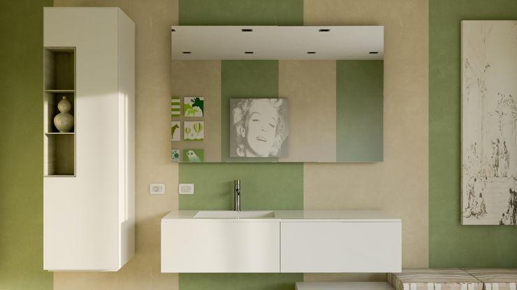 Bath stripes mcp-render Bagno moderno Verde