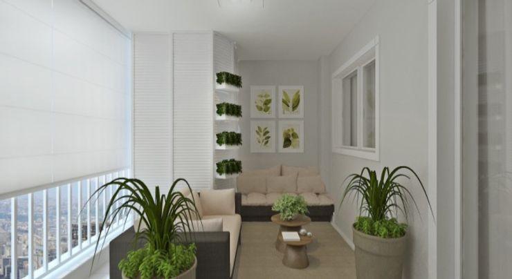 Apartamento Tatuapé Elaine Orosco Jardins de inverno rústicos Derivados de madeira Bege
