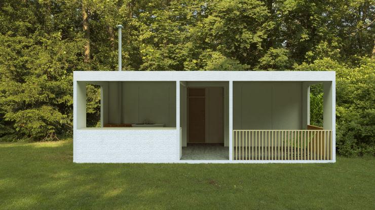 Variante del sistema de vivienda progresiva sustentable Variable Casas ecológicas Hormigón Blanco