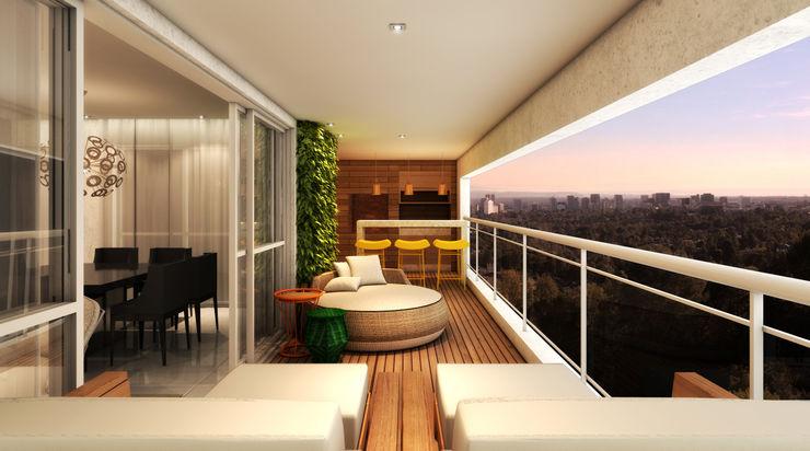 Varanda Gourmet Semíramis Alice Arquitetura & Design Varandas, alpendres e terraços modernos