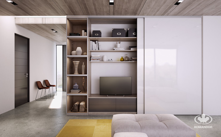Komandor - Wnętrza z charakterem Modern Living Room Chipboard White