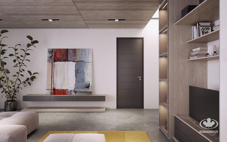 Komandor - Wnętrza z charakterem Modern Living Room Chipboard Beige