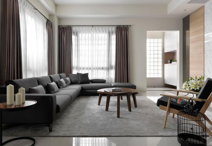 夏沐森山設計整合 غرفة المعيشة