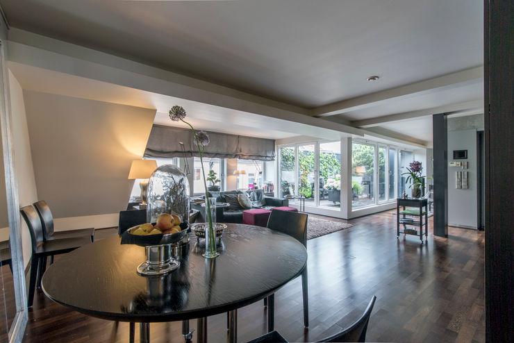 Penthaus Wohnung Ohlde Interior Design Klassische Esszimmer Holz Beige