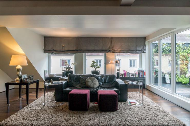 Penthauswohnung Ohlde Interior Design Klassische Wohnzimmer Beton Grau