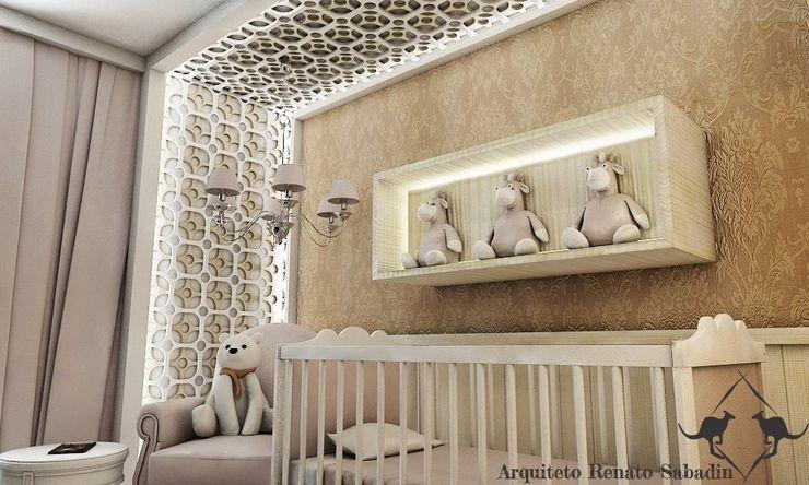 Projetos - Arquiteto Renato Sabadin Renato Sabadin Quartos de bebê Madeira Bege