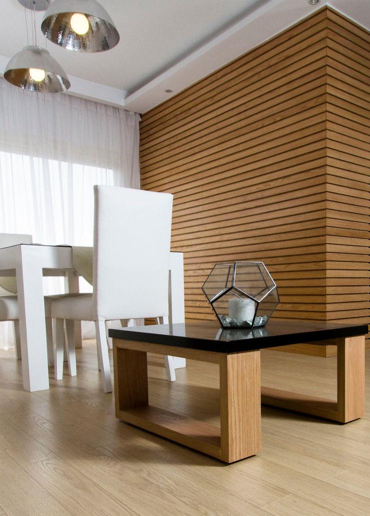 Dining Room CUBEArchitects Comedores de estilo minimalista Acabado en madera