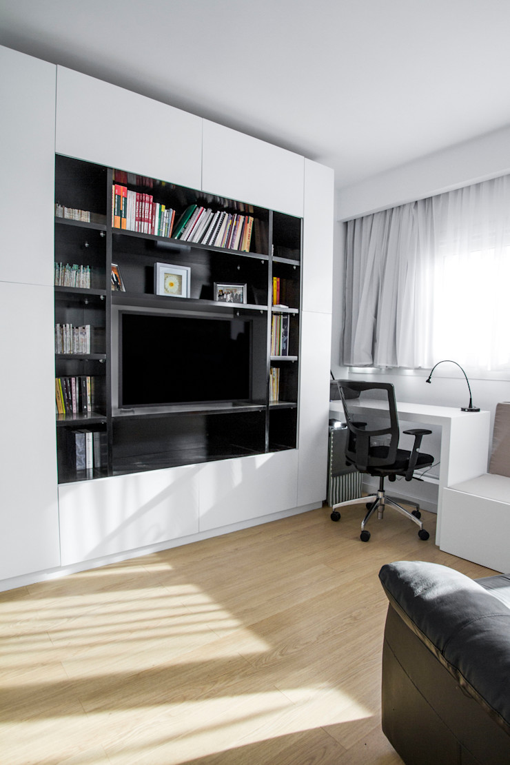 Study - Bedroom CUBEArchitects Estudios y bibliotecas de estilo minimalista