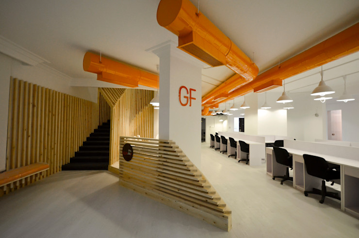 Ground Floor Area CUBEArchitects Complesso d'uffici in stile minimalista