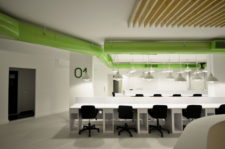 Second Floor Work space CUBEArchitects Complesso d'uffici in stile minimalista