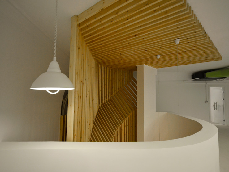 Staircase Design CUBEArchitects Complesso d'uffici in stile minimalista