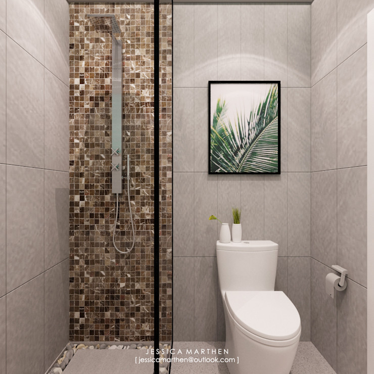 JESSICA DESIGN STUDIO Tropical style bathroom