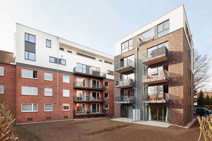 Gartenansicht - Innenhof elbsand architekten Mehrfamilienhaus