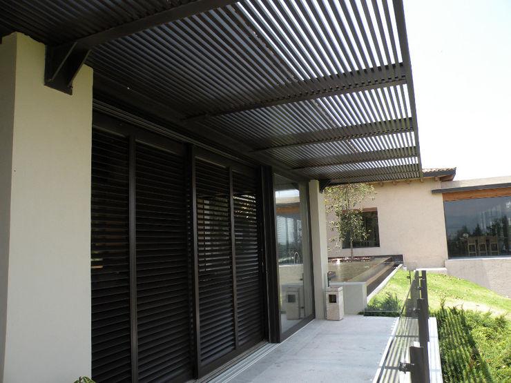 homify Windows & doors Window decoration Aluminium/Zinc Brown
