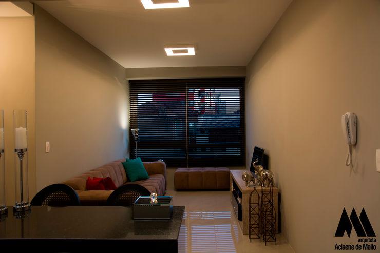 arquiteta aclaene de mello Modern Living Room Tiles Beige