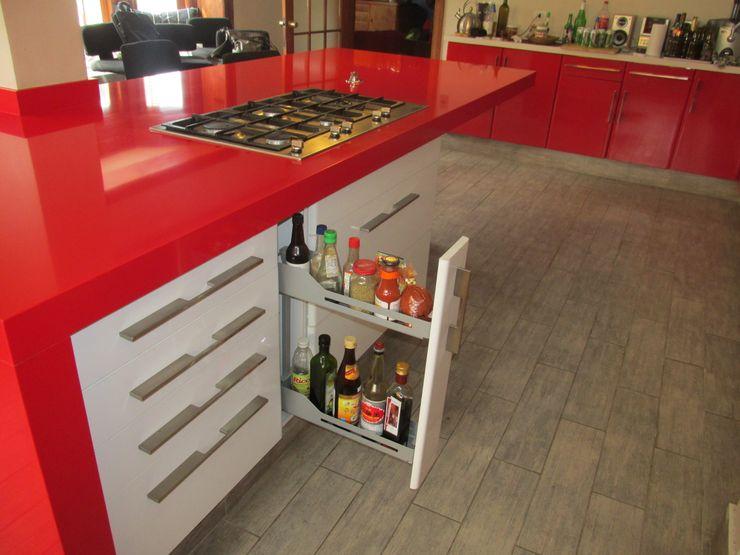 Mueble especiero extraíble HBT ABS Diseños & Muebles CocinaEstanterías y gavetas Contrachapado Blanco