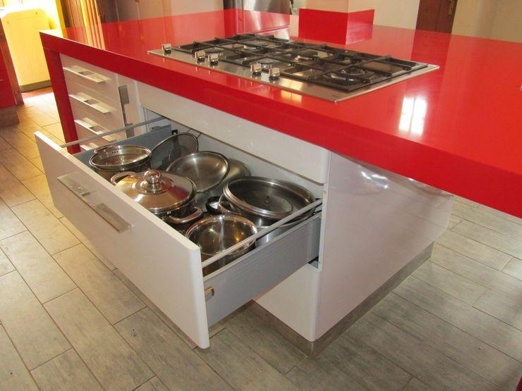 Mueble cajonera porta ollas ABS Diseños & Muebles CocinaAlmacenamiento Contrachapado Blanco