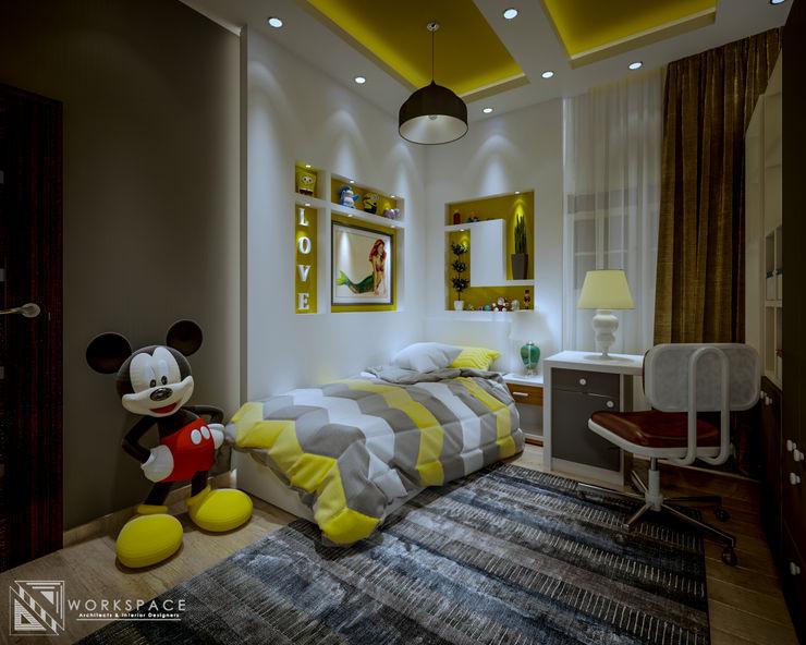 WORKSPACE architects & interior designers Quartos modernos Amarelo