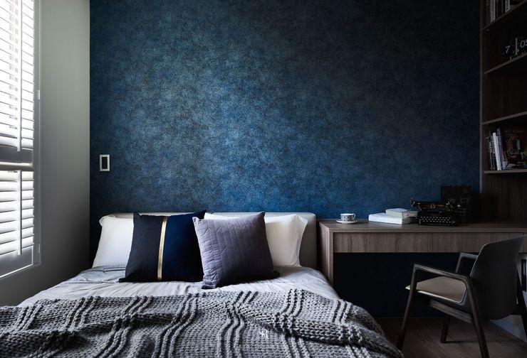 璀璨.脈脈|Van der Vein 理絲室內設計有限公司 Ris Interior Design Co., Ltd. 臥室 Blue