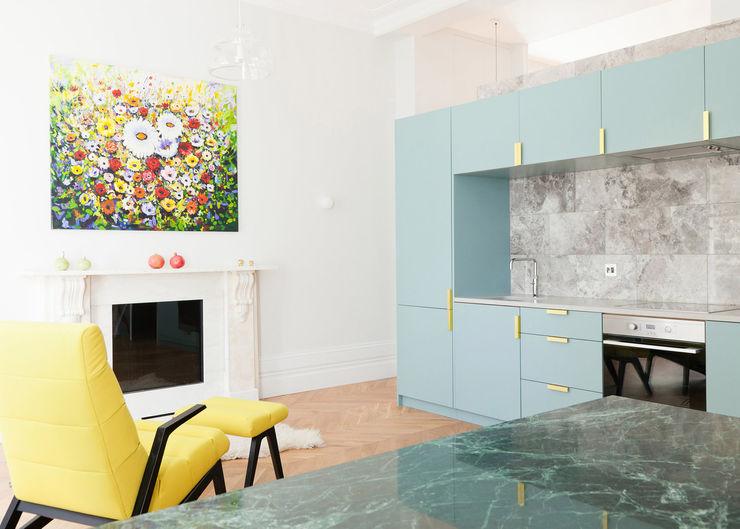 Westbourne Gardens NAKED Kitchens Modern style kitchen Blue
