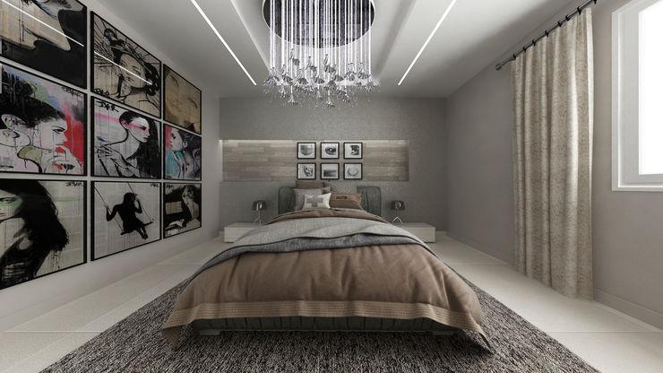Casa GL De Vivo Home Design Camera da letto in stile industriale